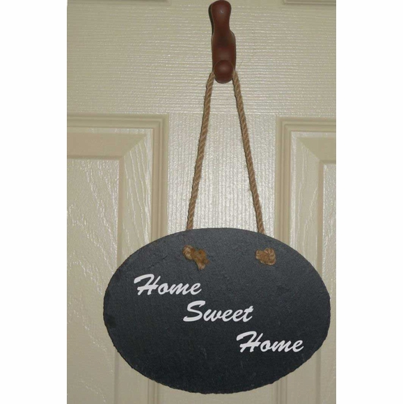 Hanging Slate Plaque Personalized With Your Own Message