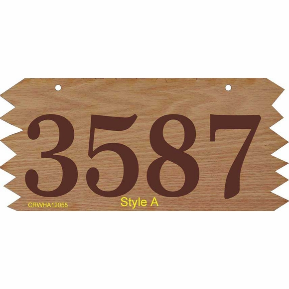 Hanging Wood Address Plaque with Sawtooth Edges