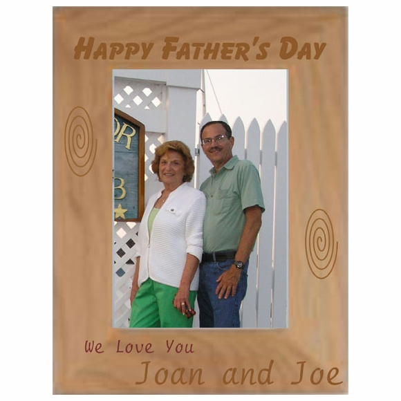 Happy Fathers Day Personalized Picture Frame