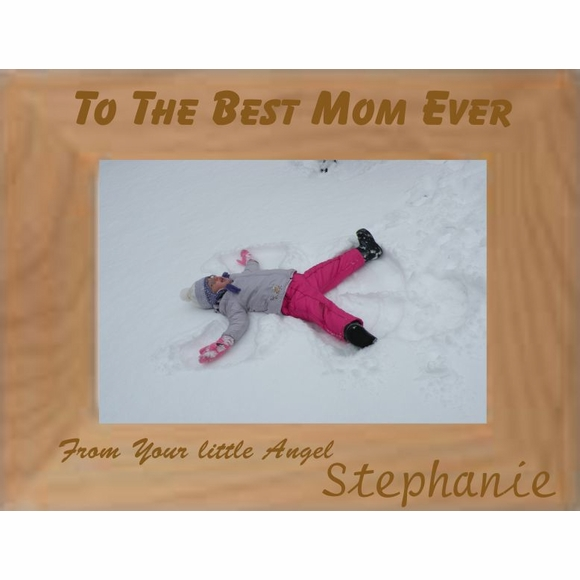 Happy Mother's Day Personalized Picture Frame - Custom Engraved Photo Frame
