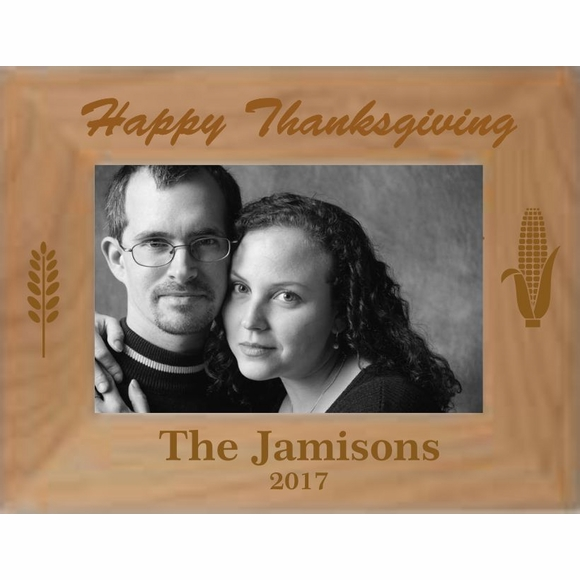 Happy Thanksgiving Personalized Picture Frame