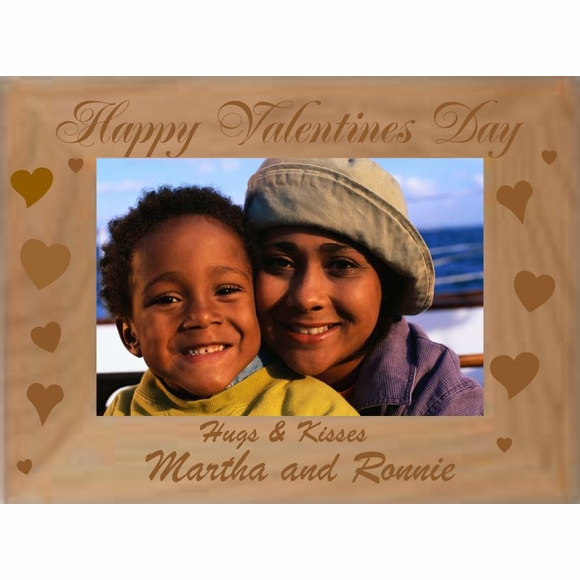 Valentine's Day Personalized Picture Frame - Custom Engraved Photo Frame