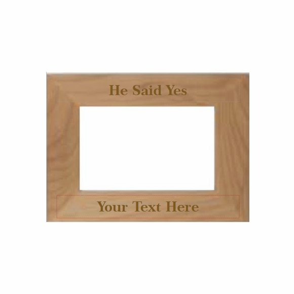 He Said Yes Personalized Picture Frame