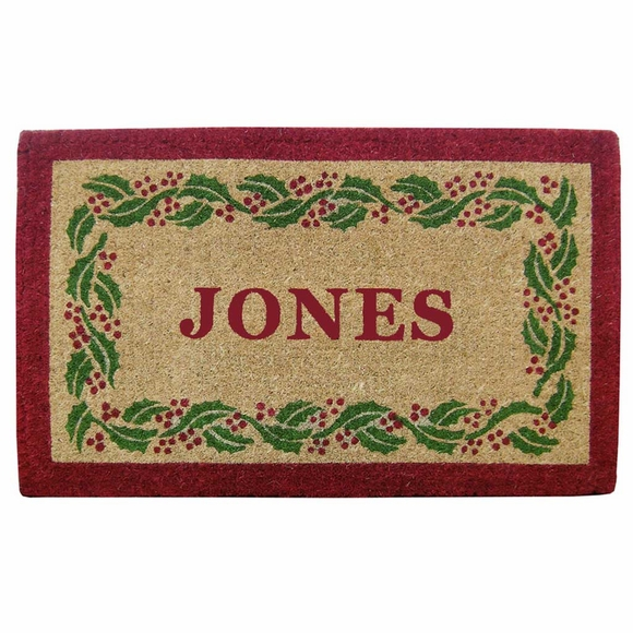 Heavy Duty Coir Christmas Door Mat - Personalized