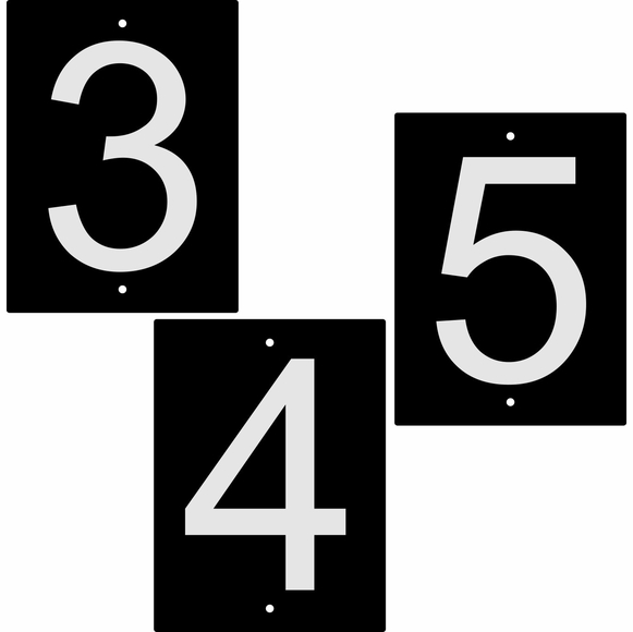 Reflective House Numbers or Letters, Heavy Duty