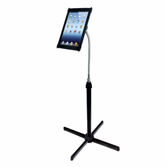 Height Adjustable Goose Neck Floor Stand for iPad