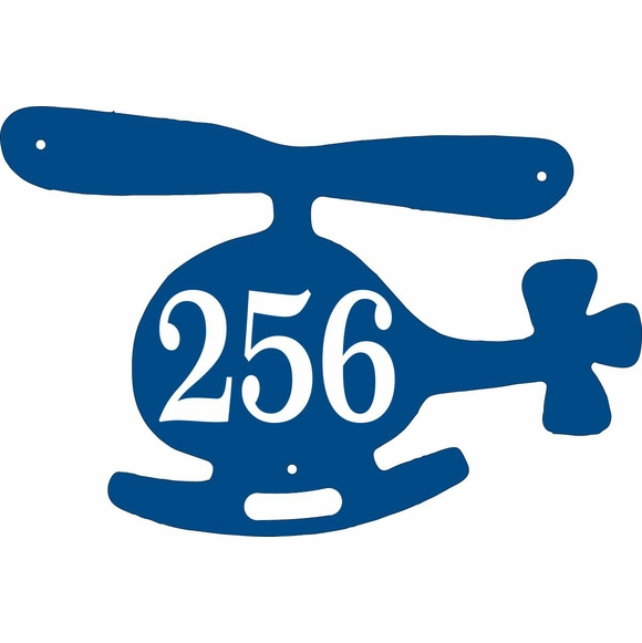 Helicopter Shape Address Plaque