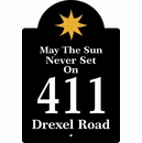 Address Sign, May the Sun Never Set on Personalized Sunshine Address Plaque