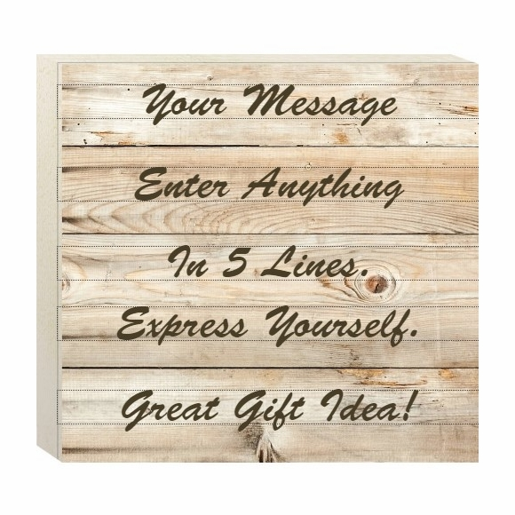Home Decor Wall Box with Your Custom Wording - Hanging Wall Art or Stand on Table
