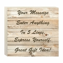 Home Decor Wall Box with Your Custom Wording