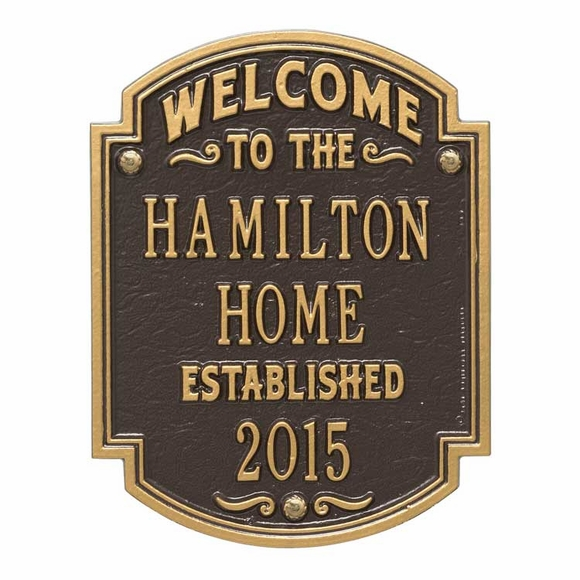 Personalized Welcome To The Home Established Date Plaque