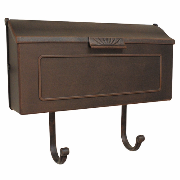 Horizontal Porch Mailbox with Sun Decoration on Handle