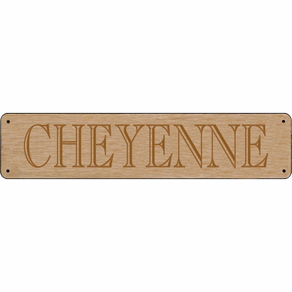 Horse Name Stall Plate - Large Name Sign Engraved In Oak