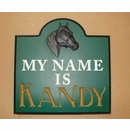 Horse Stall Name Sign with 3D Horse Head