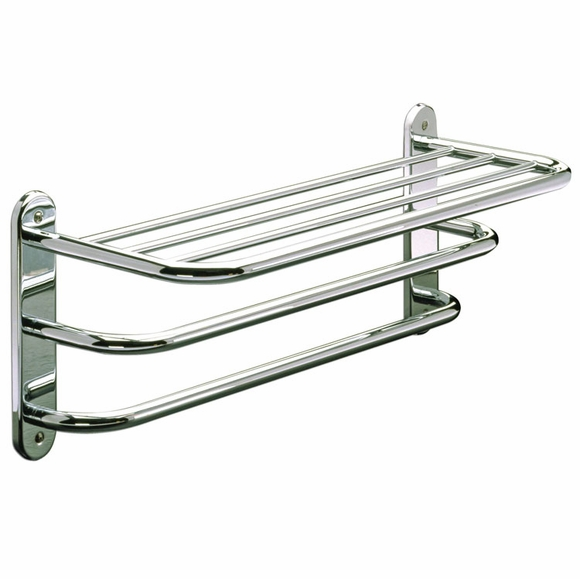 Hotel Towel Shelf with double towel bar 24