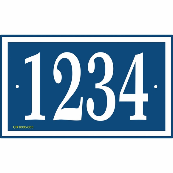 House Number Sign