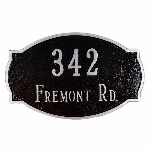 House Number Sign - Aluminum Metal