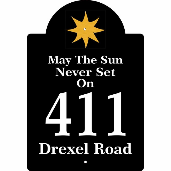 Address Plaque With May The Sun Never Set On