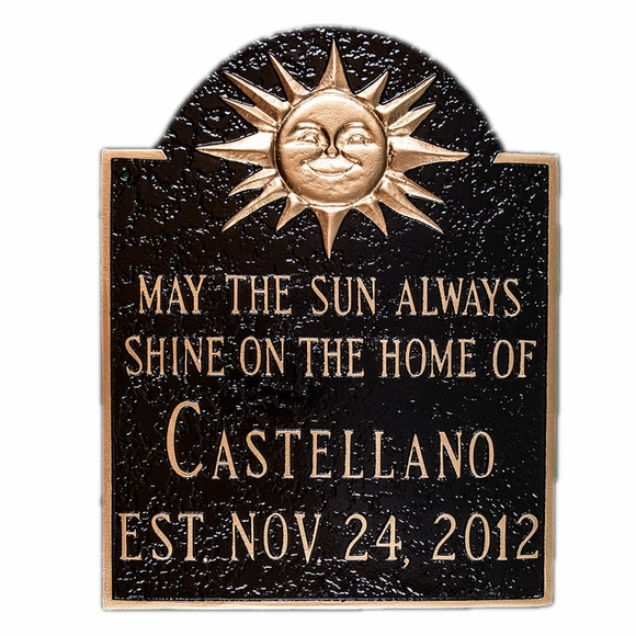 House Plaque With May The Sun Always Shine On The Home Of