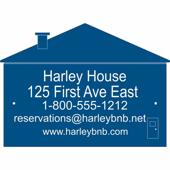 House Shape Business Name Sign or Address Plaque