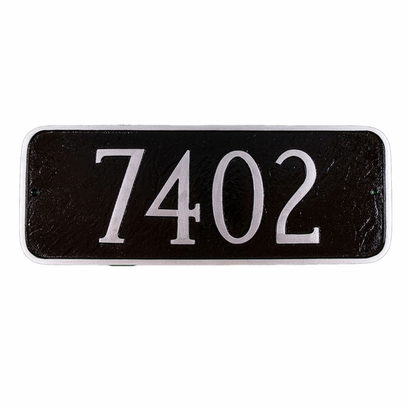 House Address Number Sign - Rectangle with Rounded Corners