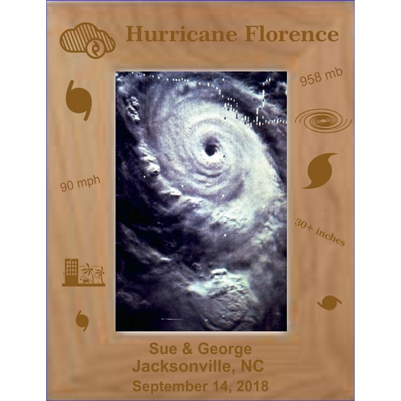 Hurricane Florence Personalized Picture Frame