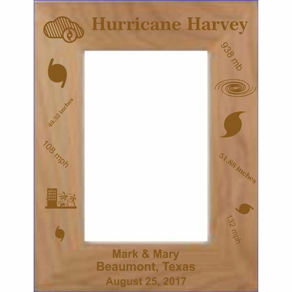 Hurricane Harvey Custom Engraved Personalized Picture Frame