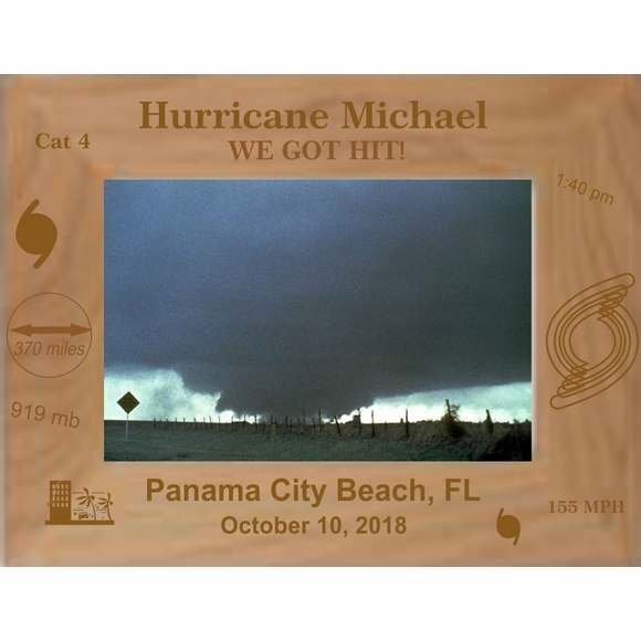 Hurricane Michael Personalized Custom Engraved Picture Frame