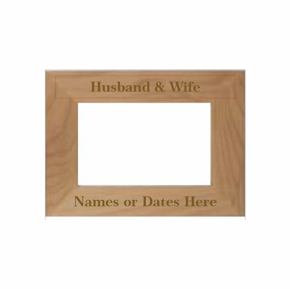 Husband and Wife Personalized Picture Frame