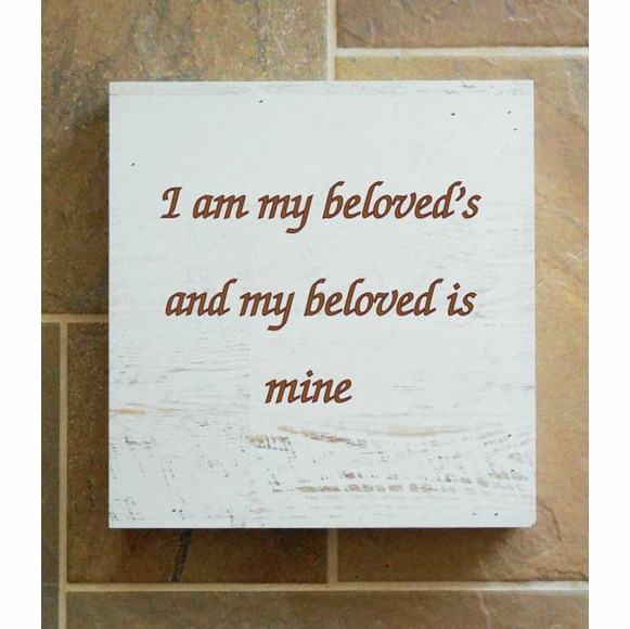 I Am My Beloved's and My Beloved is Mine Wall Box Home Decor