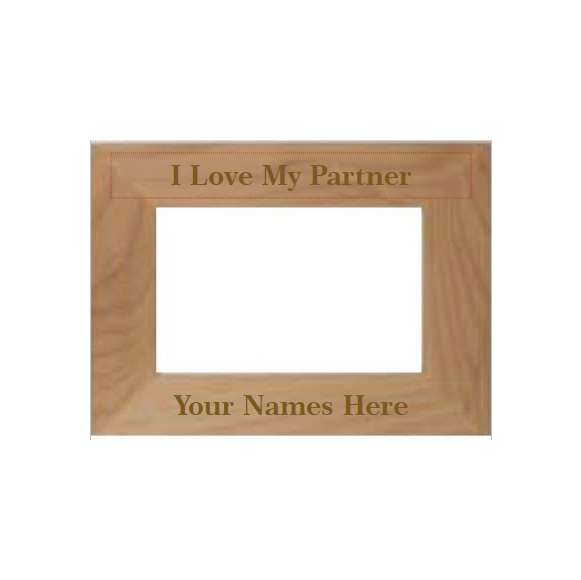 I Love My Partner Personalized Picture Frame