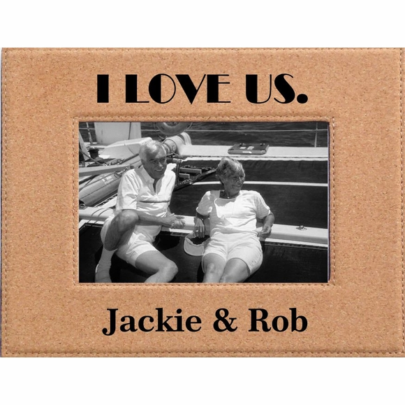 I Love Us Personalized Romance Cork Picture Frame