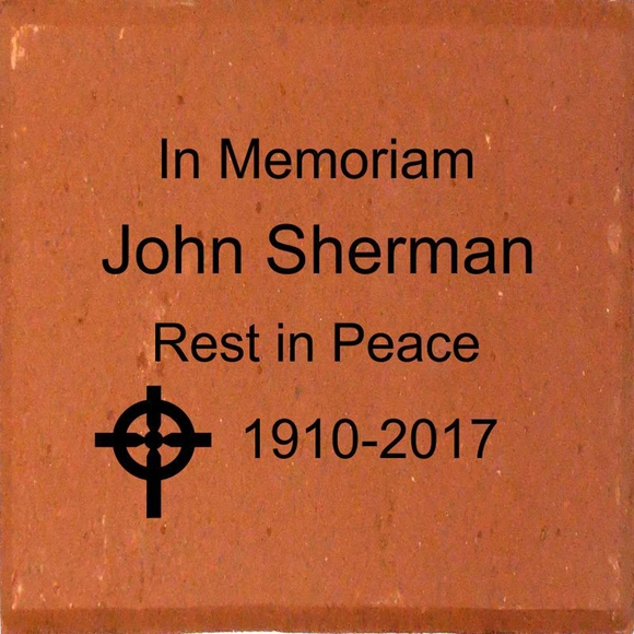 In Memoriam Personalized Engraved Brick with Religious Symbol