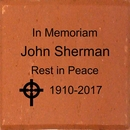 In Memoriam Personalized Brick with Religious Symbol