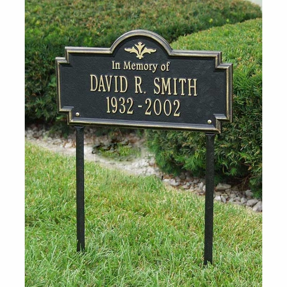 In Memory of Personalized Lawn Plaque