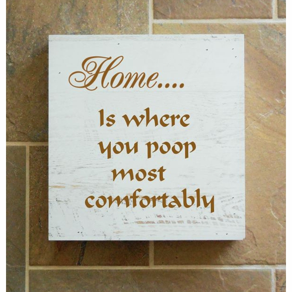 Home is where you poop most comfortably Wall Box