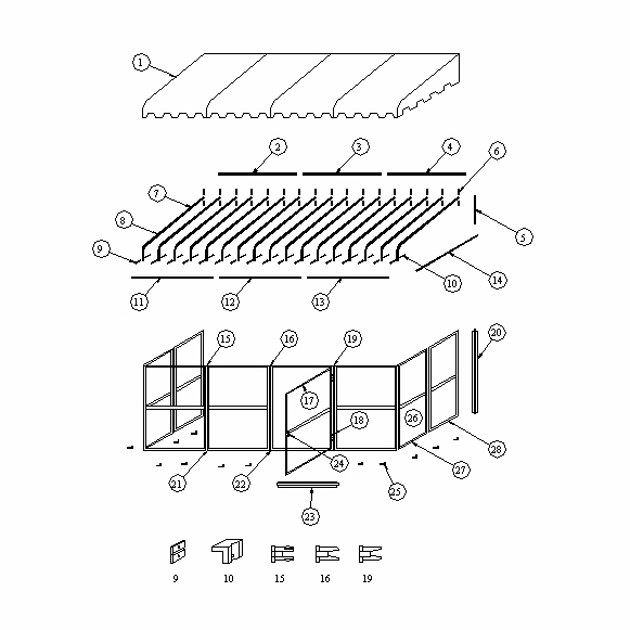 Patiomate Replacement Part SH43534 Rafter Nest