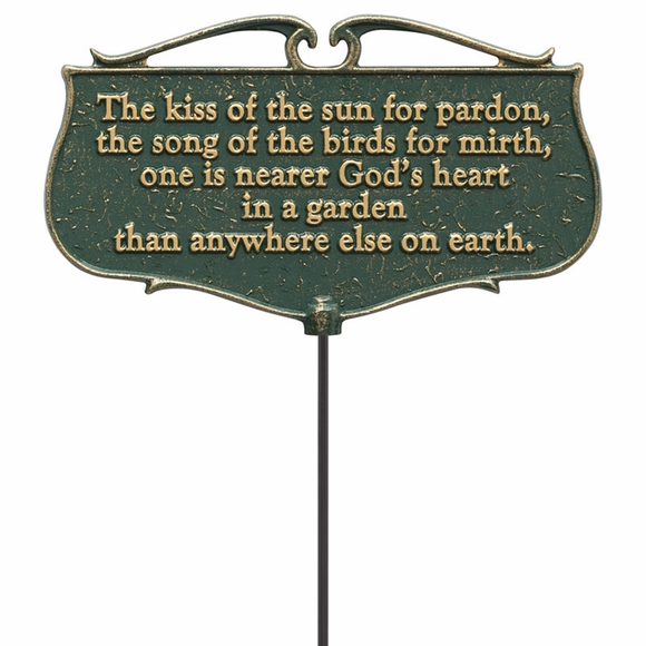 Kiss of the Sun Garden Poem Sign