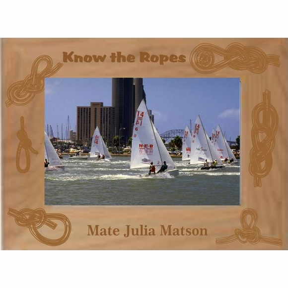 Know the Ropes Picture Frame for Boat Photo