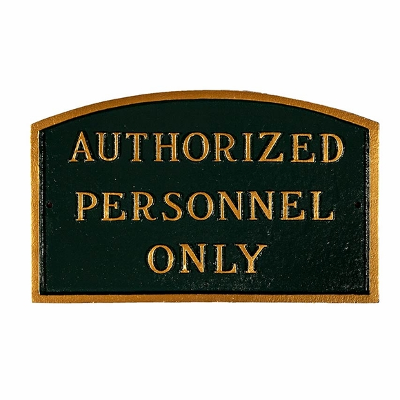 Authorized Personnel Only Sign - Large Metal Sign For Wall or Lawn Stake Mount