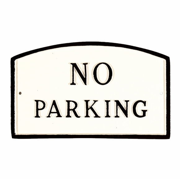 No Parking Sign - Large Metal Sign For Wall or Lawn Stake Mount