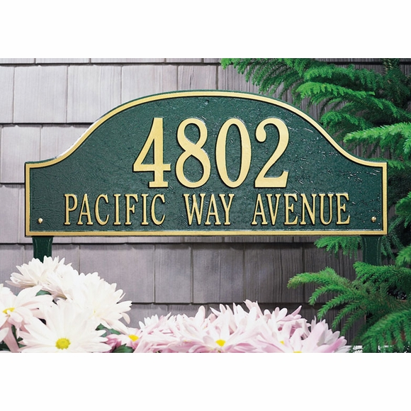 Large Admiral Arch Address Plaque