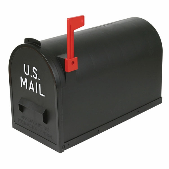 Large Black Rural Mailbox