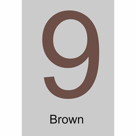 Large Brown House Address Numbers