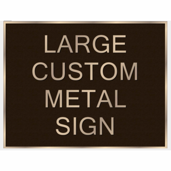 Custom Large Cast Metal Sign With Business Name, Address, or Any Other Text
