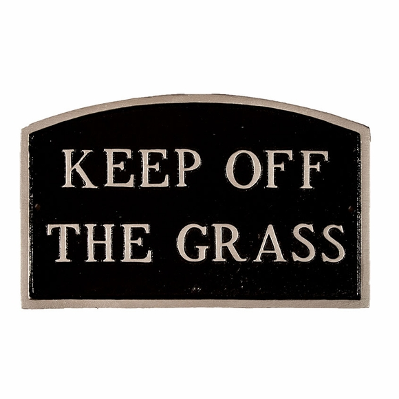 Keep Off The Grass Sign - Large Metal Sign For Wall or Lawn Mount