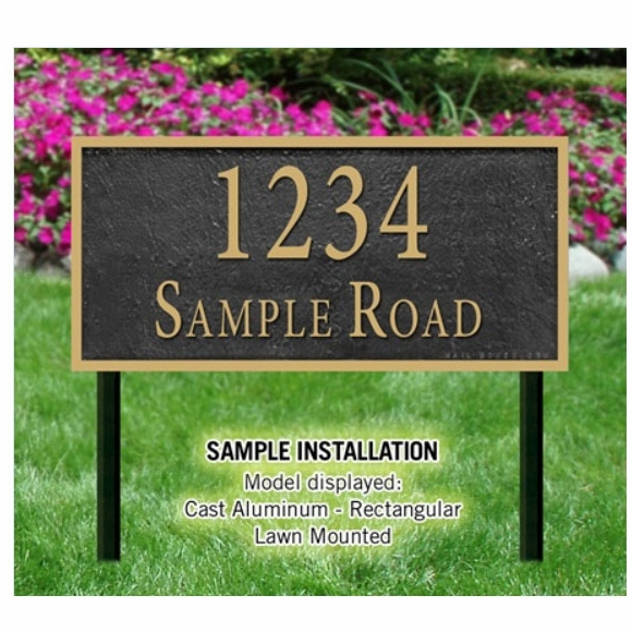 Large Lawn Mount Address Sign