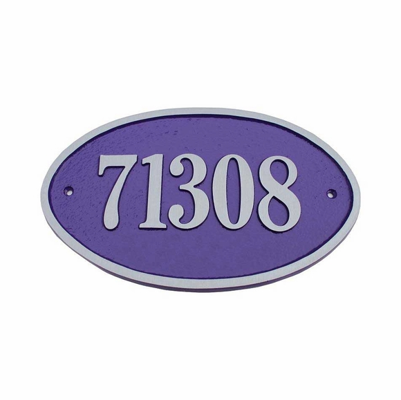 Large Oval Street Number Plaque