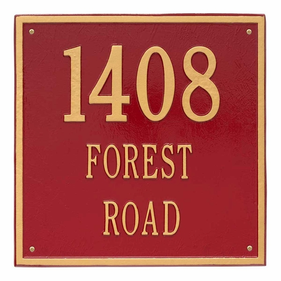 Large Personalized Square Address Plaque