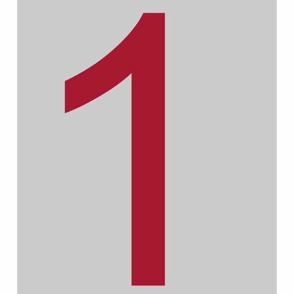 Large Red House Numbers